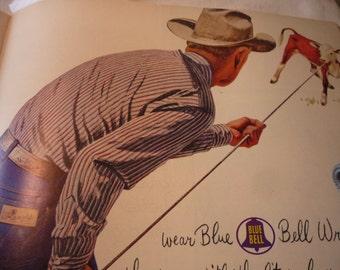 Vintage Ad - - Cowboy Wranglers - - 1950s original ad -