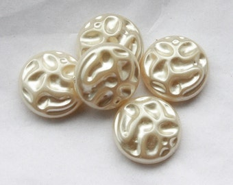 10 Vintage 1950's Pearly Cabochons