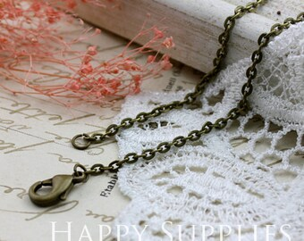 10pcs Antique Bronze Long Chain Necklace (BD02)