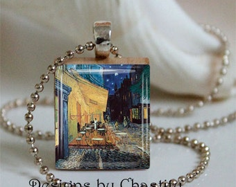 Van Gogh Cafe Terrace Scrabble Necklace