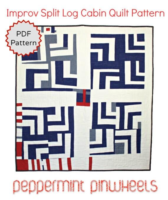 Modern Quilt Pdf Pattern Instant Download Improvisational
