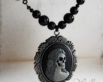 necklace - Corpse Bride - gothic, neovictorian, dark, dark romance, mourning, zombie, undead, tim burton, bone