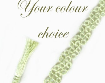 Custom Lace Bookmark with Tassel - Your Choice of Colour - Chiara - One Colour