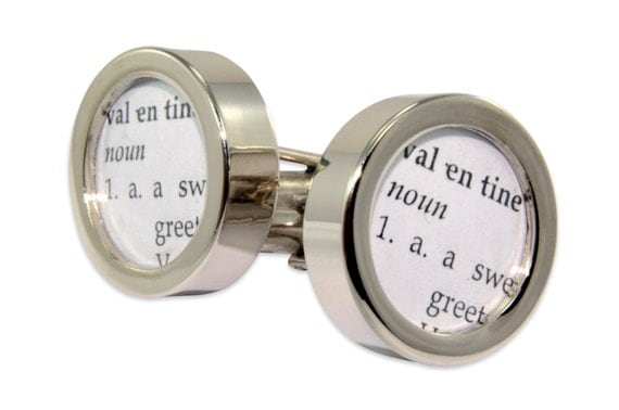 Definition of VALENTINE Cuff links by Gwen DELICIOUS Jewelry Design
