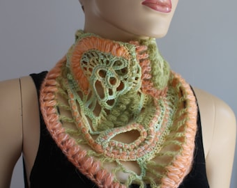 Freeform Crochet Cowl Scarf - Neck Warmer - Bandana
