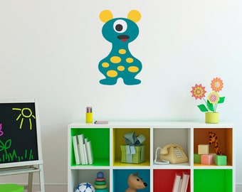 Monster Decal - Monster Wall Decor - Children Wall Decals - 7