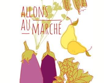Carococo Art print by Carol-Anne Pedneault /Marché / Market 12x18