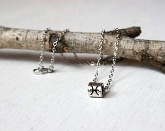 Antique Silver Zodiac Sign Necklaces