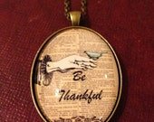 Be Thankful Cameo Necklace