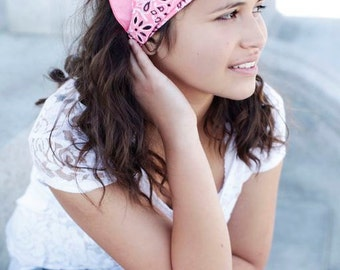Gift for Women, Strawberry Pink Hair Band, Alopecia Headwrap, Trichotillomania Headband, Pale Pink Women's Hair Scarf (#3015) S M L