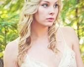 Flower crown, rustic head wreath, wedding headband, bridal hair, wedding crown