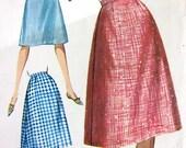 Butterick 2235 Vintage 1960's A-Line Skirt Pattern H 33 W 24