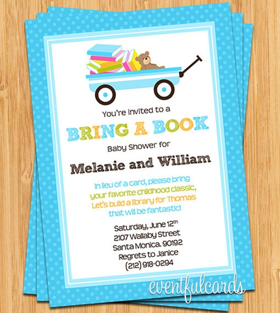bring a book baby shower invitation by eventfulcards on etsy, Baby shower