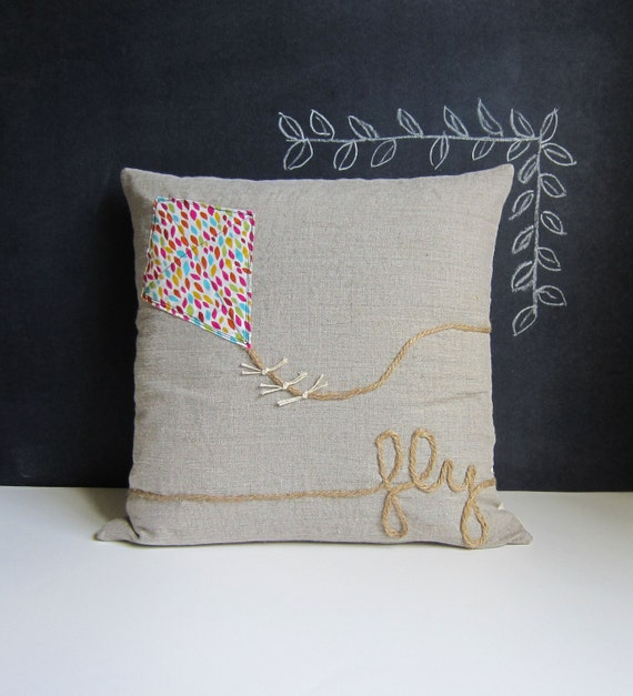 Breezy Day Kite pillow cover