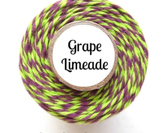 Purple & Lime Bakers Twine by Trendy Twine - Grape Limeade, Halloween, Mardi Gras, Favors, Wrap It Up, Packaging