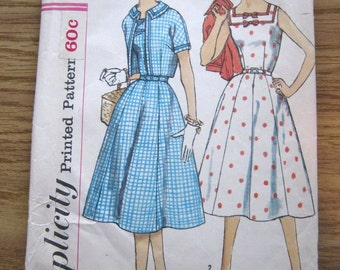 Pattern, vintage, Simplicity pattern, 2507, 1960's, dress and jacket, complete, large size pattern