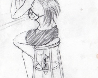 Anime art/fanart by B Wilde Trickster manga character sketches Bianca 2006-2