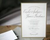 Custom Wedding Invitation Suite - Loft Invitations