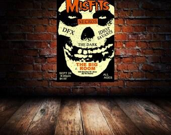 Misfits 1982 Akron Concert Poster