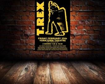 T. Rex 1972 Cleveland Concert Poster