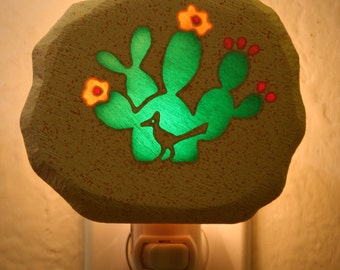 Prickly Pear and Roadrunner Nightlight