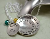 I Love You to The Moon Personalized Necklace, Mother's Day, Grandmother Necklace, Child Name, Hand Stamped