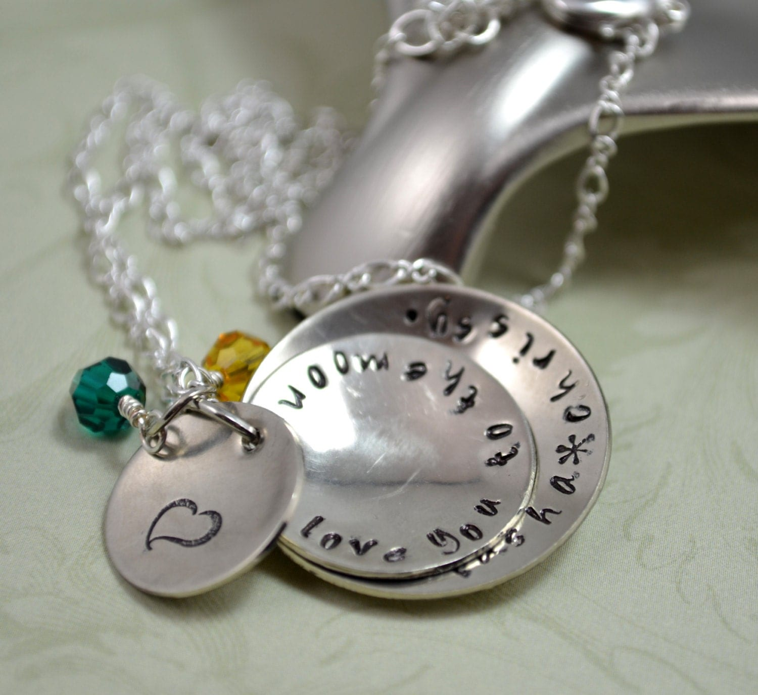 Mommy handstamped necklace mother 39 s day jewelry for Grandmother jewelry you can add to
