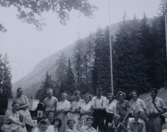 Vintage Photograph - Group of People in the Countryside