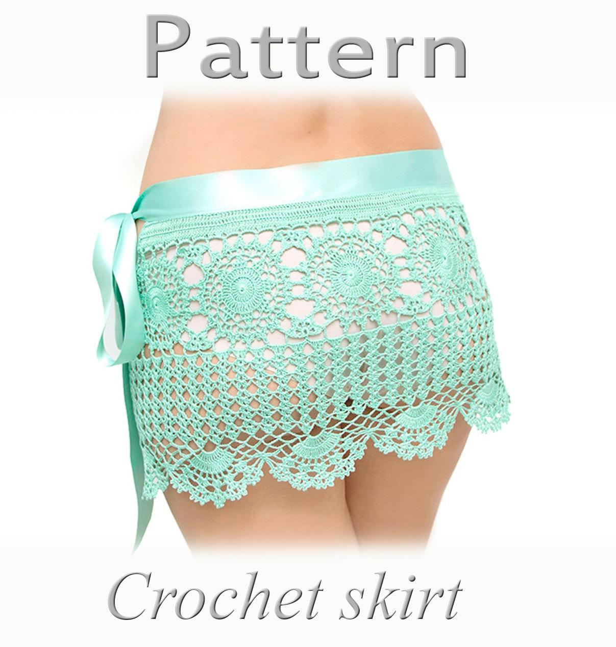 Free Download Crochet Skirt Pattern : Crochet beach skirt PATTERN PDF crochet cover up