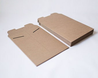 New Size 6in x 8in  -Kraft Stay Flat Mailers- Set of 20