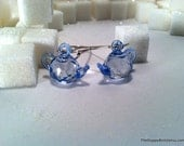 Wedgwood - Faceted Tea Pot Earrings - Long and Light - Many More Colors Available - Quantities Discounted