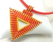 Peyote pattern for Hot Chilli beaded triangle pendant: Instant Downloadable Pattern PDF File