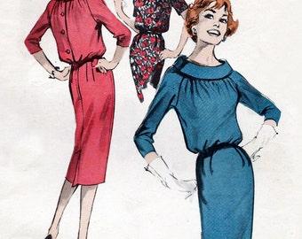 """60s dress pattern - 1960s yoked sheath dress pattern - Butterick 8699 - 34"""" bust"""