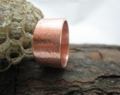 Reserved for TSM.  Mens Copper Ring.  Wide Copper Band.  Textured Copper Ring.