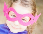 Best selling SUPER HERO MASK - 13 colors - one size fits all for kids and adults - lightning bolt masks - super hero party accessory