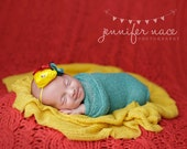 Floral Fiesta- red, teal and yellow flower collage headband
