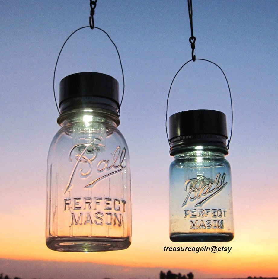 Country Cabin Lantern Decor Hanging Mason Jar by treasureagain