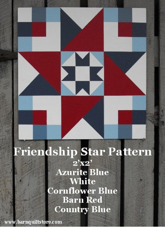Items Similar To Painted Wood Barn Quilt Friendship Star
