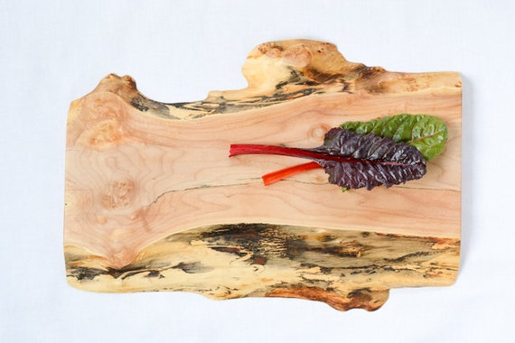 Discounted Wood Cutting Board, Natural Edge Salvaged Maple 809, Ready to Ship