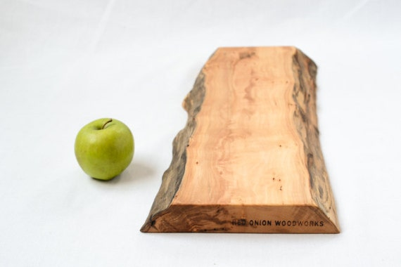Wood Serving Board, Natural Edge Salvaged Wood 822, Ready to Ship