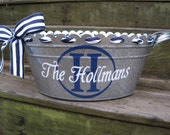 Personalized metal tub/beverage bucket-assorted colors available