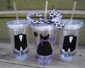 Personalized Flower Girl acrylic tumbler cup-Colors can be customized