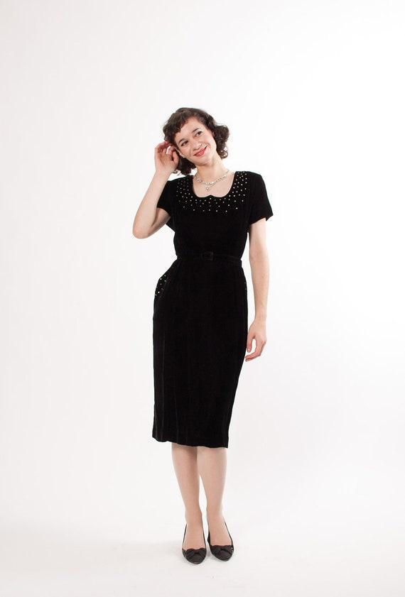 50s plus size dress 1950s cocktail dress by concettascloset
