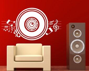 Vinyl Wall Decal Sticker Music Speaker 1140m