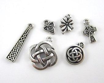 Silver TierraCast Celtic Charm Mix