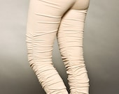 Leggings - Ruffle Leggings - Yoga Leggings - Cotton Leggings - women clothing - christmas present