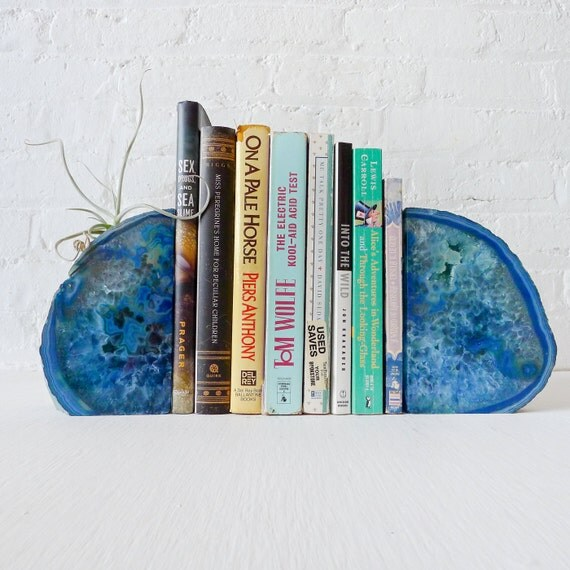 20 Sale Ocean Blue Magic Bookgardendz Crystal Bookends W