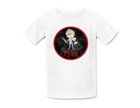 Knight Shirt Personalized Knight Birthday  TShirt or Bodysuit