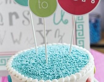PARTY PRINTABLE - Ready to Pop Printable Cake Signs - Petite Party Studio