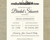 St Louis Skyline any occasion invitations; set of 25 with matching envelopes and return address printing